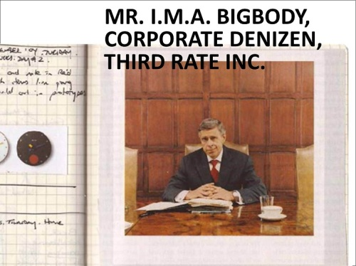MR. I.M.A. Bigbody, Corporate Denizen, Third Rate Inc.