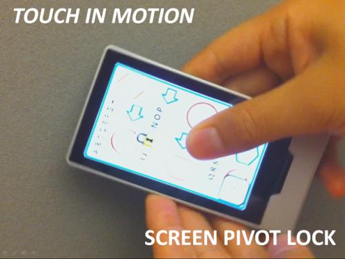 Screen Pivot Lock