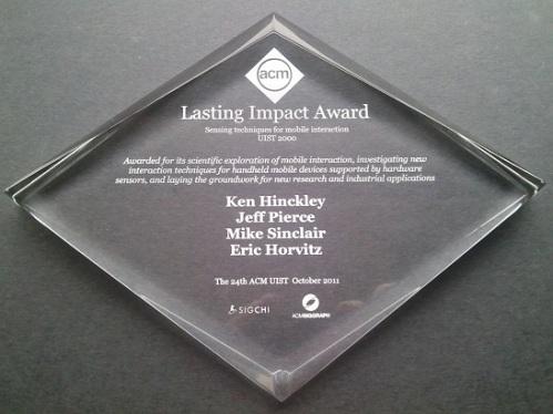 UIST 2011 Lasting Impact Award