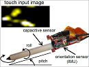 Context-Sensing Pen with multi-touch and orientation sensors