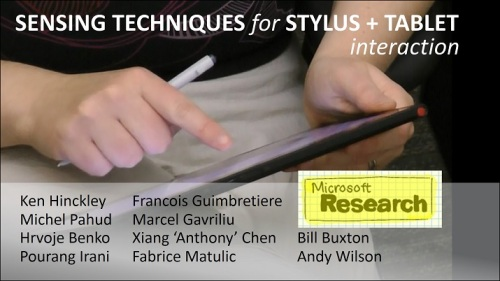 Title slide - sensing techniques for stylus + tablet interaction