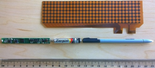 Sensor components inside the pen