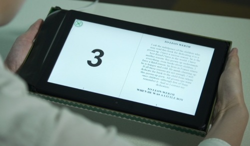 Immersive Reading mode through grip sensing
