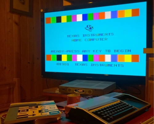 TI 994A on my large screen TV